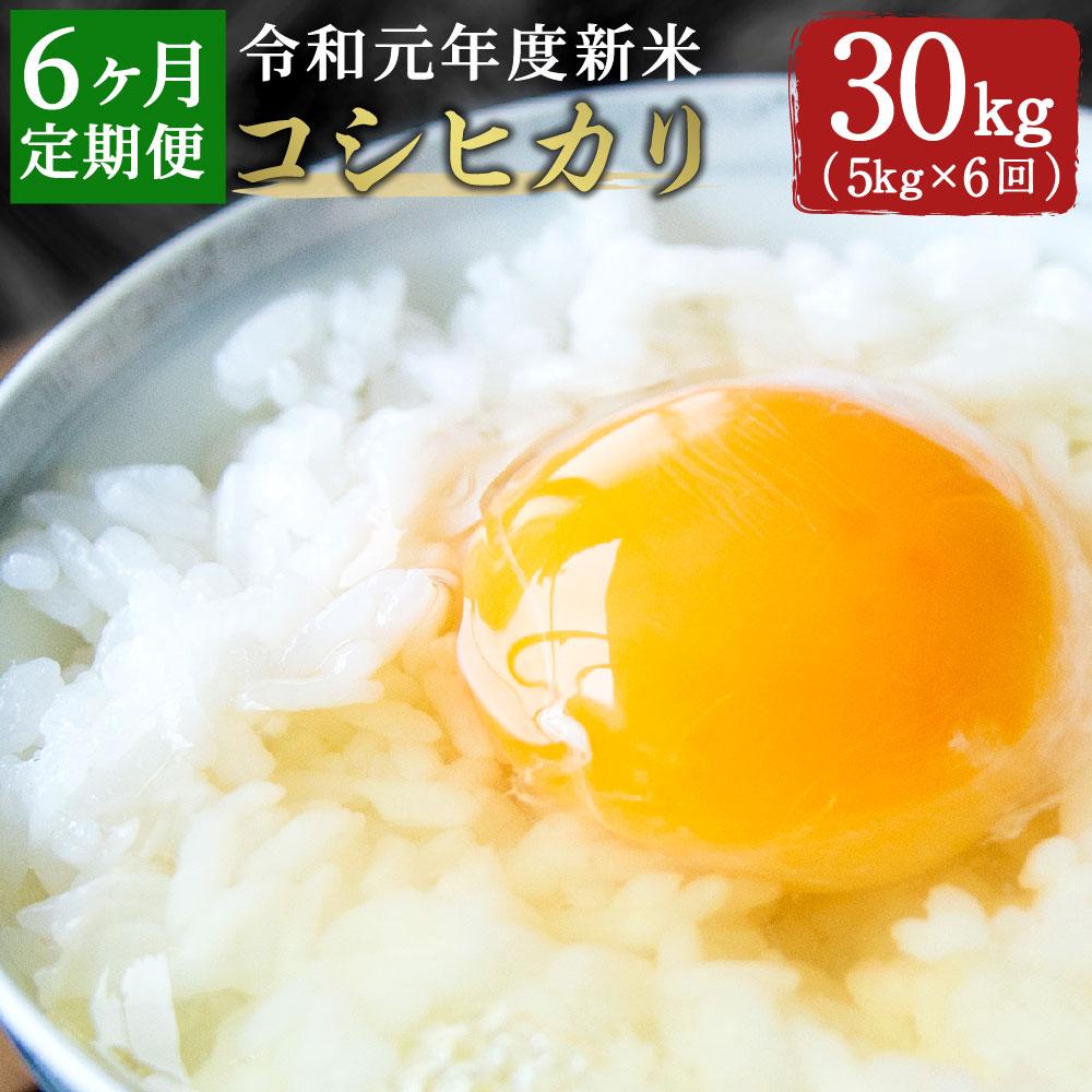 【6ヵ月定期便】大分県産「コシヒカリ」5㎏×6回