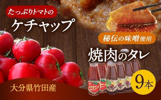 トマトケチャップと焼き肉のたれ 9本セット