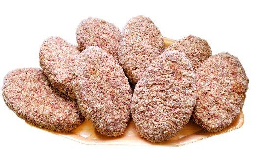 豊後牛100% 粗挽き生ハンバーグ 160g×8個