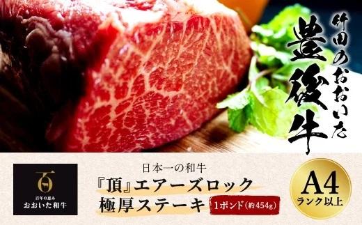 『頂』エアーズロック極厚ステーキ ⽇本⼀の和⽜ おおいた豊後⽜ 1ポンド