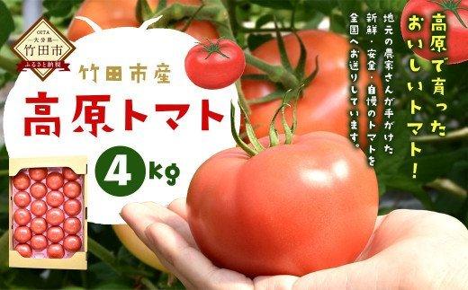 【竹田市産】高原トマト 4㎏ (約16~24個)
